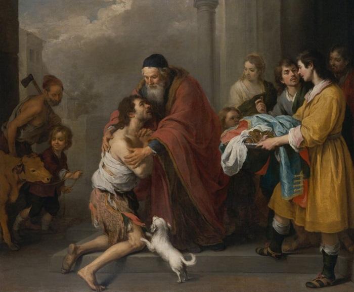 Возвращение блудного сына. Мурильо, 1667-1670 гг. | Фото: arts-dnevnik.ru.
