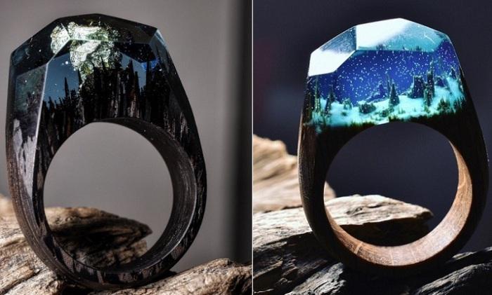 Микрокосмос внутри каждого кольца.