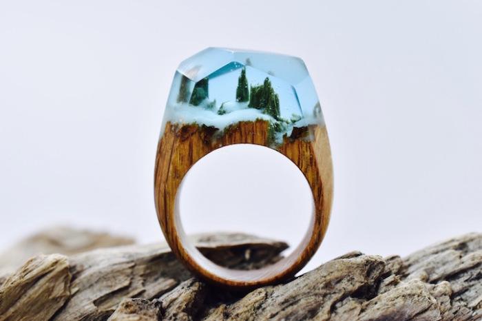 Снежное царство в маленьком кольце.