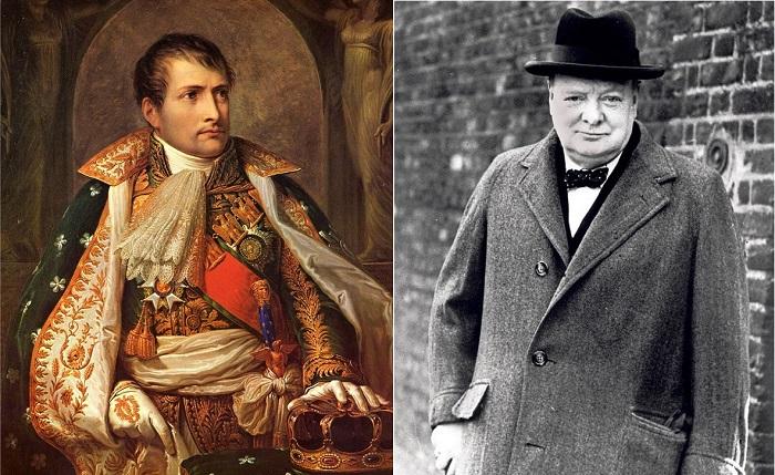 Наполеон Бонапарт и Уинстон Черчилль.