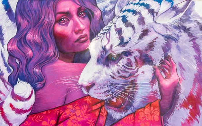 «Predators» - граффити от уличной художницы Natalia Rak.
