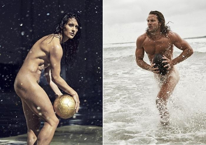 Красота обнаженного атлетического тела.