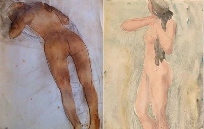 Эротические рисунки Огюста Родена.