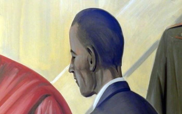 Образ на фреске, напоминающий бывшего американского лидера. | Фото: russian.rt.com.