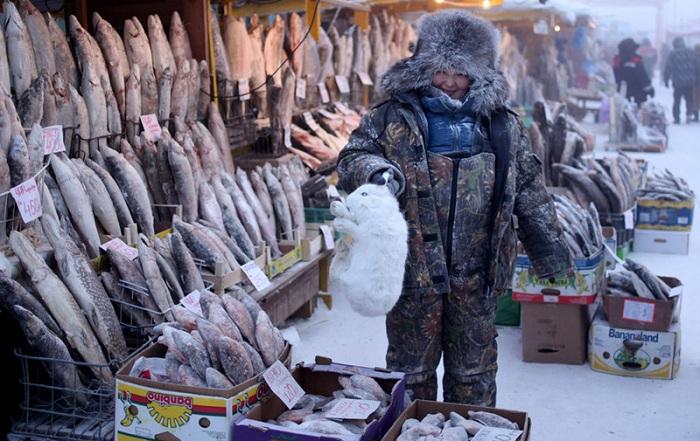 Оймякон - полюс холода. | Фото: mtdata.ru.