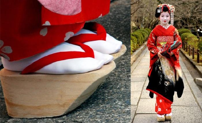 Окобо - обувь японских гейш в старину. | Фото: stylenews.ru.