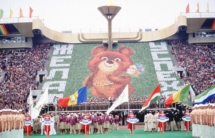 19 июля 1980 года - церемония открытия XXII Олимпийских Игр. | Фото: mognovse.ru.
