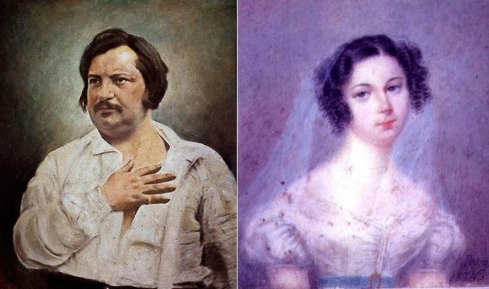 Оноре де Бальзак и Эвелина Ганская.