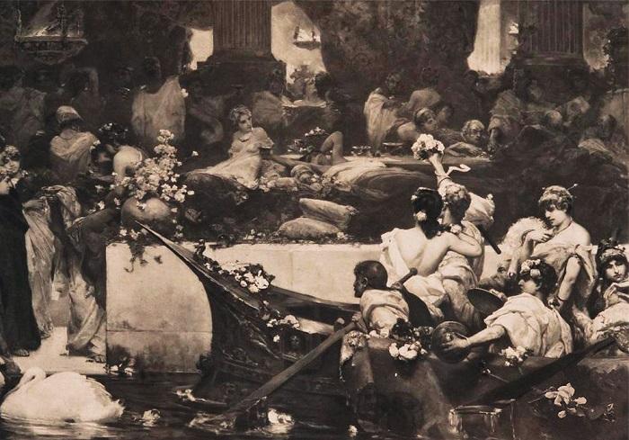 Фотография, на которой запечатлена картина. Начало ХХ века. | Фото: restoration.rusmuseum.ru.