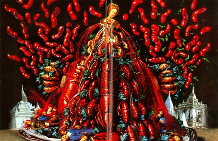 Поваренная книга Сальвадора Дали с его собственными иллюстрациями.