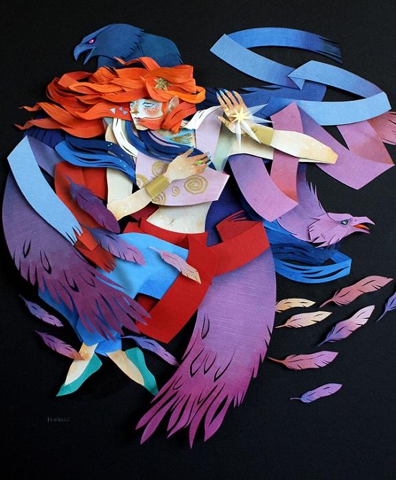 Оригинальные коллажи, сделанные художницей Morgana Wallace.