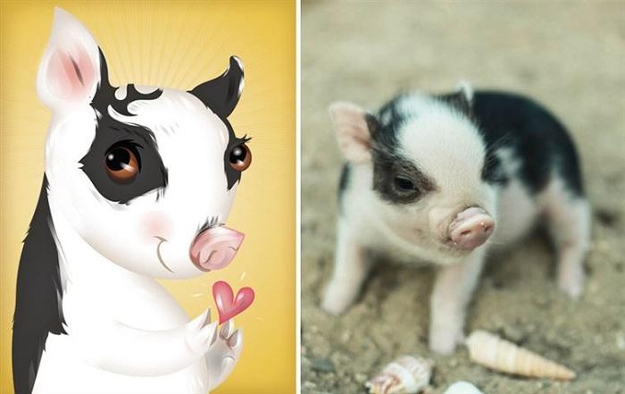 Свинка-кокетка.