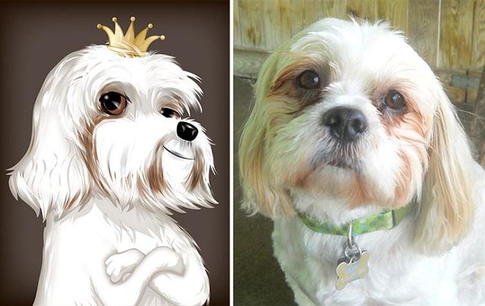 Собачка-принцесса.