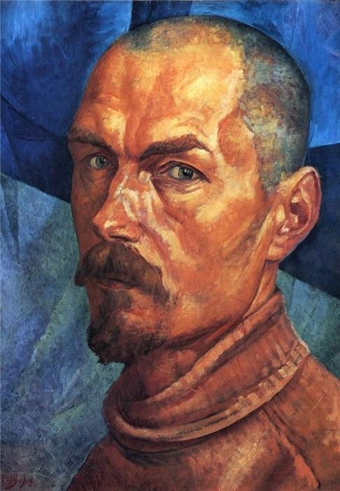 Кузьма Петров-Водкин. Автопортрет. 1918 год. | Фото: commonpoll.com.