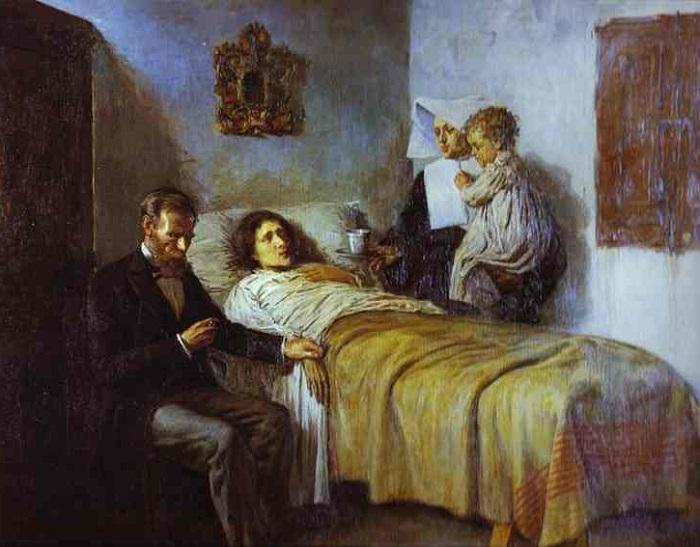 Знание и милосердие. Пабло Пикассо, 1897 год. | Фото: img-fotki.yandex.ru.
