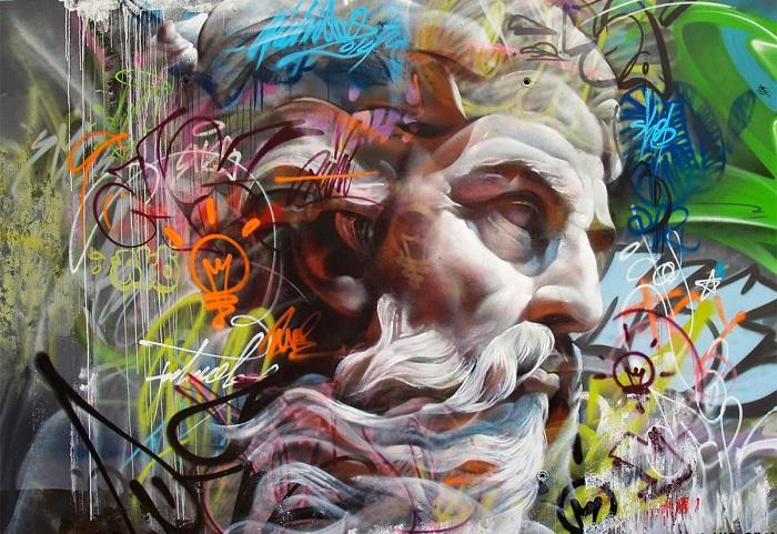 Оригинальное граффити от испанского дуэта.
