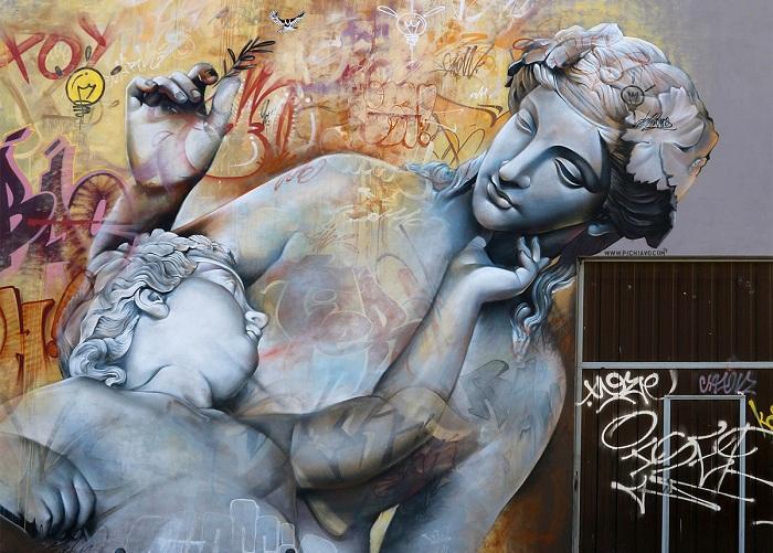 Граффити от испанского арт-дуэта.