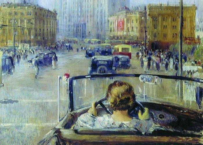 Новая Москва. Ю. Пименов, 1937 год. | Фото: liveinternet.ru.