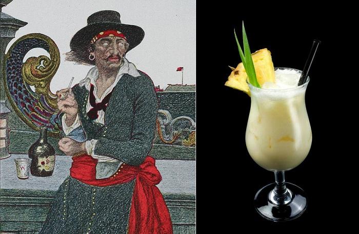 Пина колада - коктейль, придуманный пиратом.