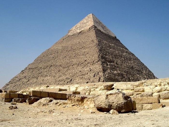 Пирамида Хефрена в Гизе.   Фото: tio.by.
