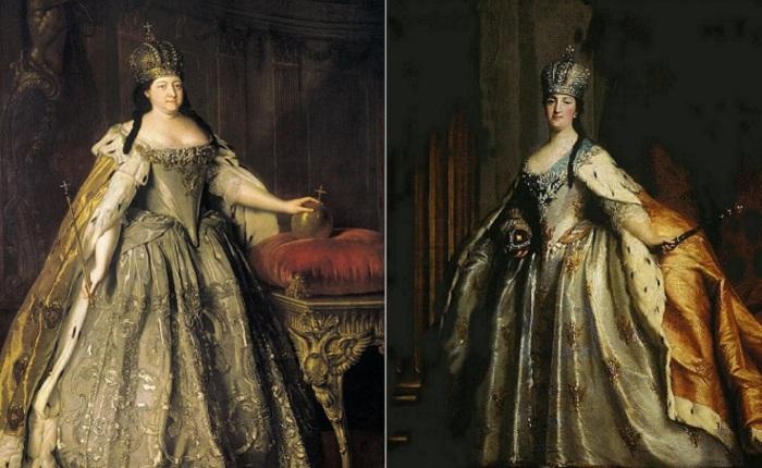 Коронационные наряды российских императриц.