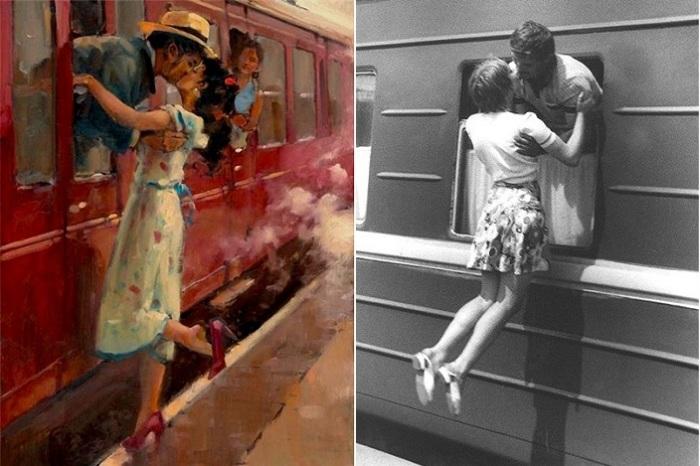 Во Франции нельзя целоваться на перронах. | Фото: yaplakal.com / liveinternet.ru.