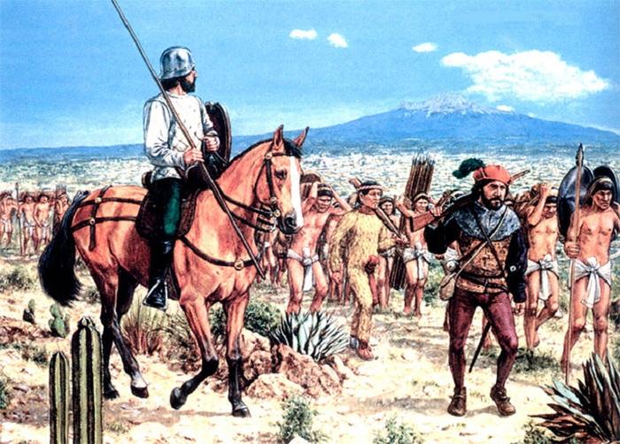 Испанцы захватывали индейцев в рабство. | Фото: ciwar.ru.