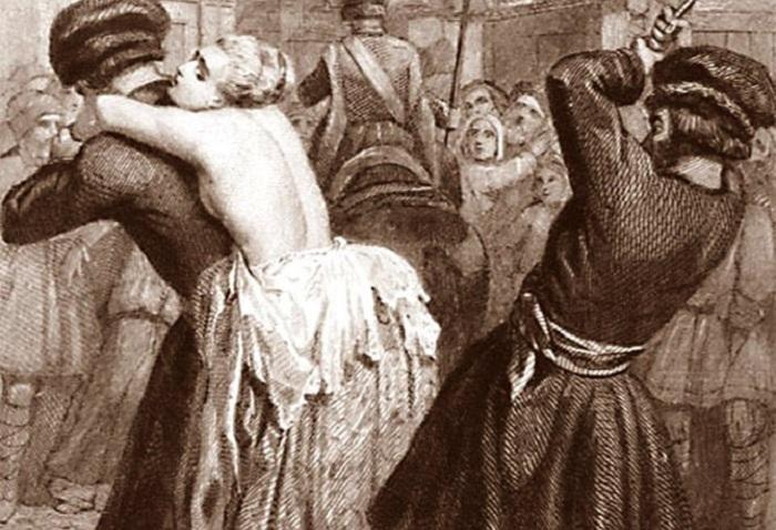 Наказание княгини Лопухиной. Гравюра из фонда ГИМ | Фото: diletant.media.