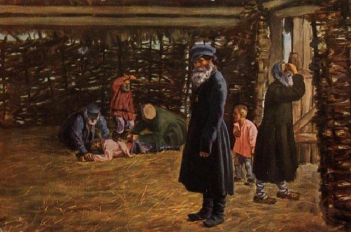 Недавнее прошлое (Перед поркой). Н. В. Орлов, 1904. | Фото: diletant.media.
