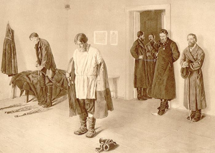 В волостном суде. С. Коровин, 1884. | Фото: diletant.media.