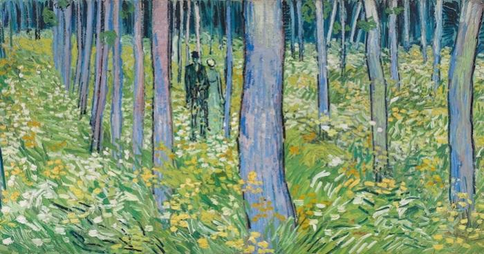 Подлесок с двумя фигурами. Винсенг Ван Гог, 1890 год. | Фото: mymodernmet.com.