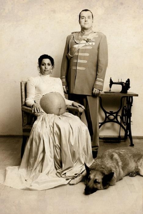 Оригинальное фото беременной дамы с мужем. | Фото: ofigenno.com.