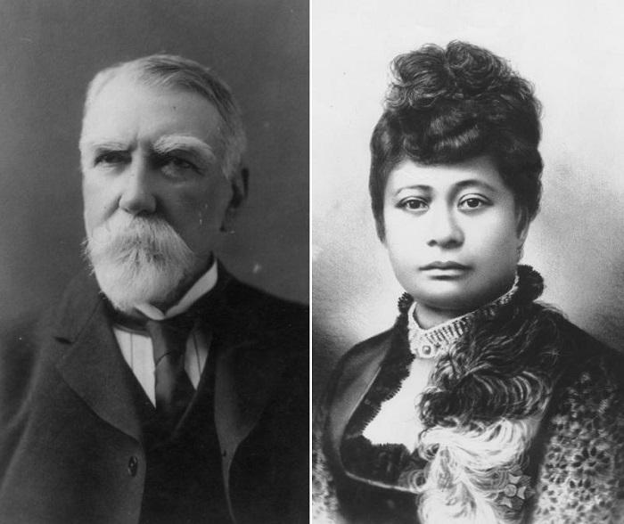 Родители принцессы Каюлани. | Фото: fiveminutehistory.com.