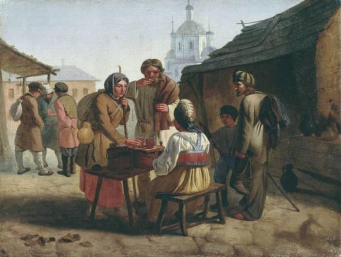 Продажа кваса. В. Е. Калистов. | Фото: artlemon.ru.