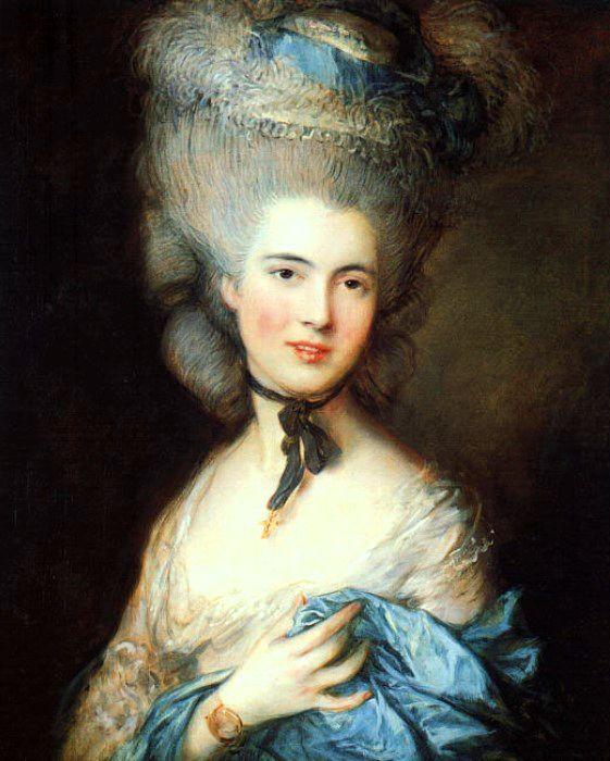 Дама в голубом. Томас Гейнсборо, конец 1770-х - начало 1780-х гг. | Фото: storage.suffra.com.