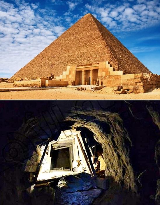 Подземный туннель, ведущий к пирамиде Хеопса. | Фото: dream.co.id.