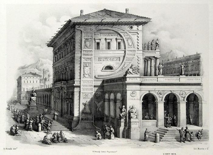 Серия литографий Antonio Basoli.