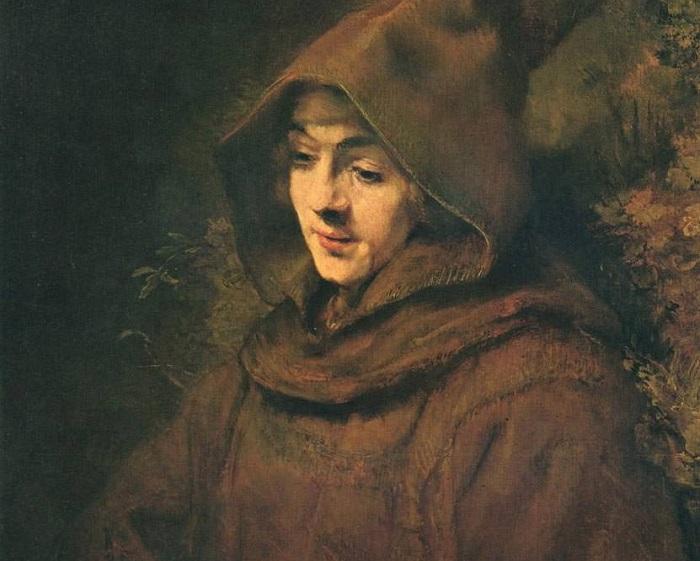 Титус в образе монаха. Рембрандт, 1660 год. | Фото: istanbulsanatevi.com.