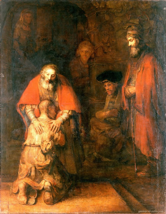 Возвращение блудного сына. Рембрандт. | Фото: christofgrace.files.wordpress.com.