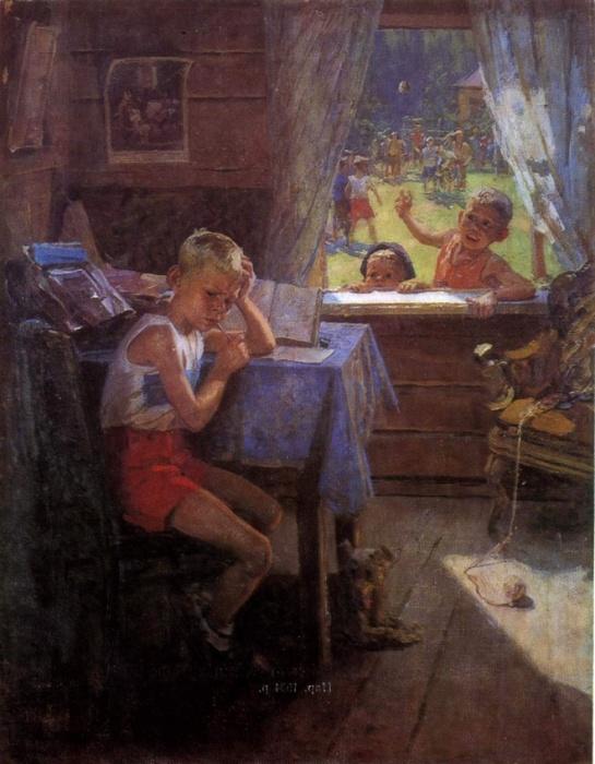 Переэкзаменовка. Ф. Решетников, 1954 год| Фото: ki.ill.in.ua.