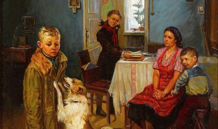 Опять двойка. Ф. Решетников, 1952 год.   Фото: prospekt.media.