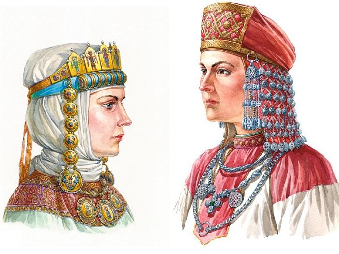 На Руси были популярны подвески-рясны.