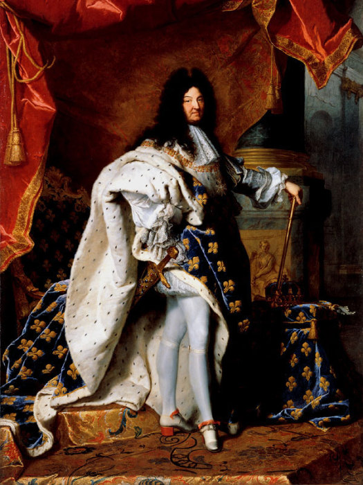 Портрет Людовика XIV. Г. Риго, 1701 г. | Фото: dpholding.ru.