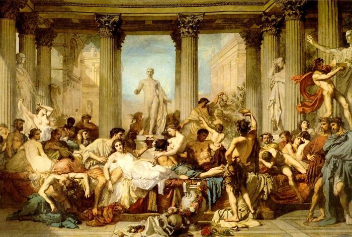 Римляне времен упадка. Тома Кутюр, 1847 г.   Фото: artscroll.ru.