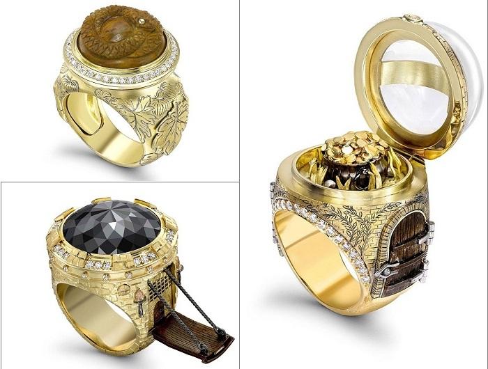 Кольца со «сказочным» дизайном.