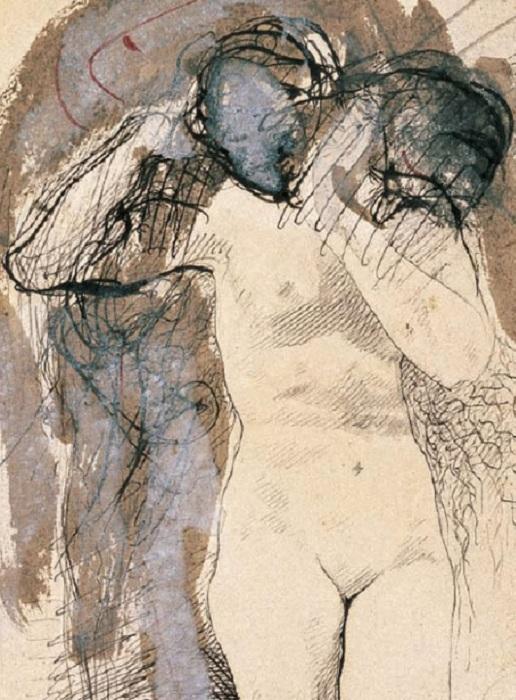 Обнаженная женщина с головой на плече. Огюст Роден. | Фото: michelkoven.wordpress.com.
