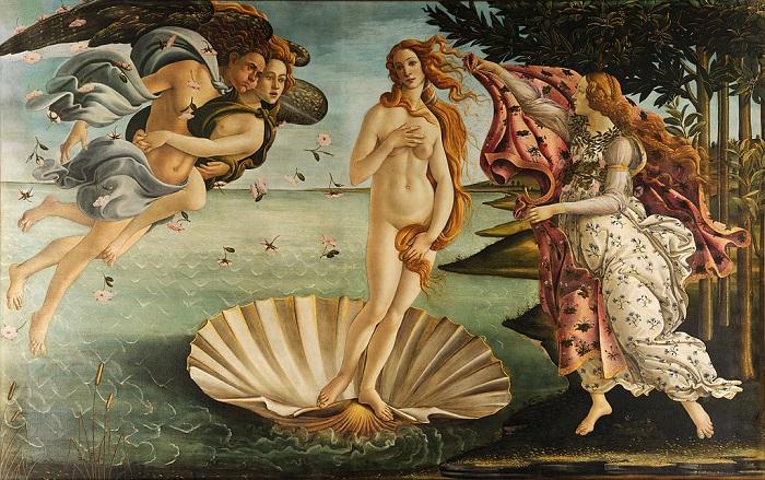 «Рождение Венеры». Сандро Боттичелли, 1486 год. | Фото: artariya.ru.