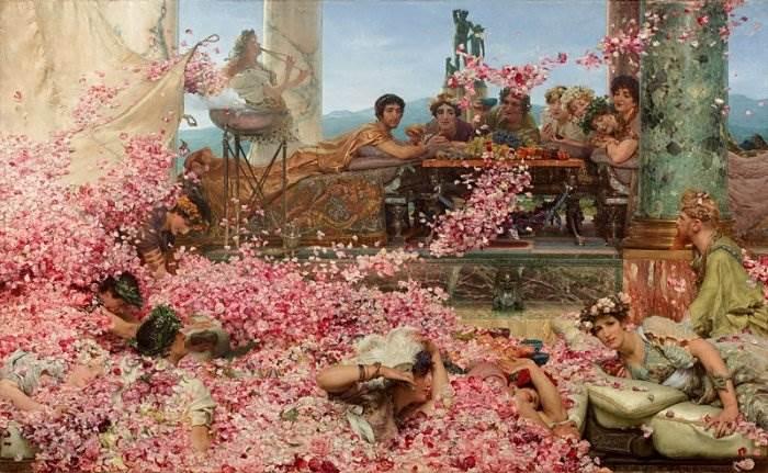 Розы Гелиогабала. Лоуренс Альма-Тадема, 1888 год. | Фото: art-assorty.ru.