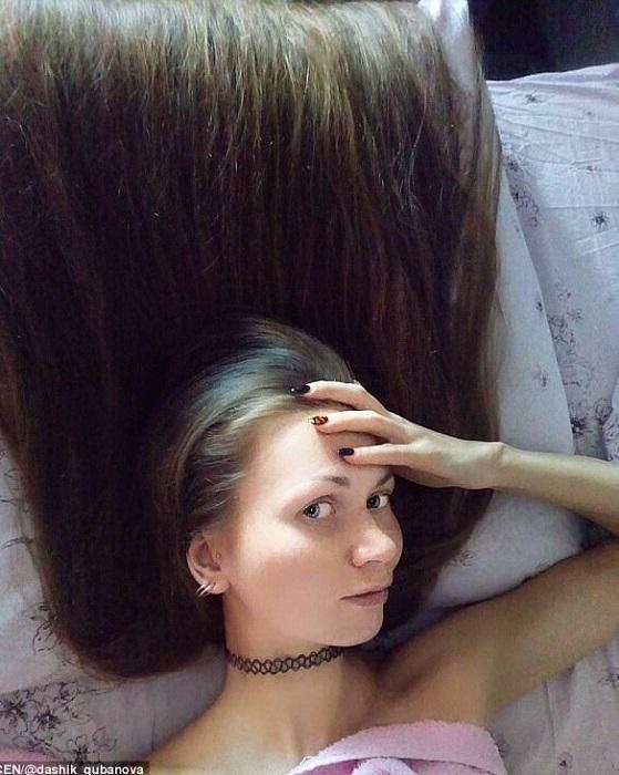 Дарья Губанова - обладательница потрясающих волос.   Фото: dailymail.co.uk.