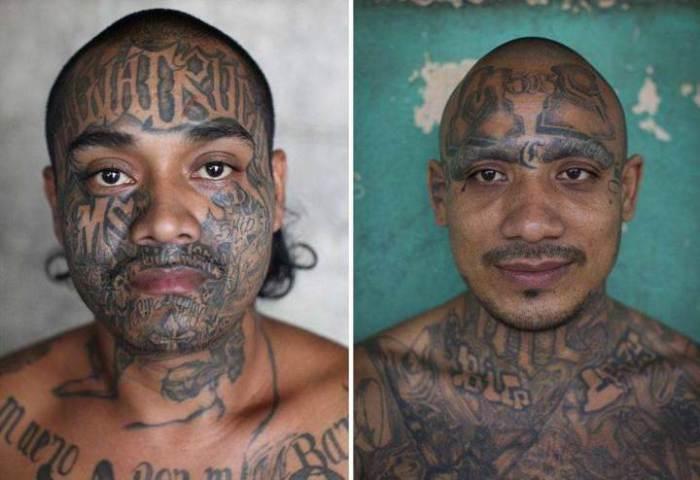 Татуировки как признак принадлежности к определенной группировке.